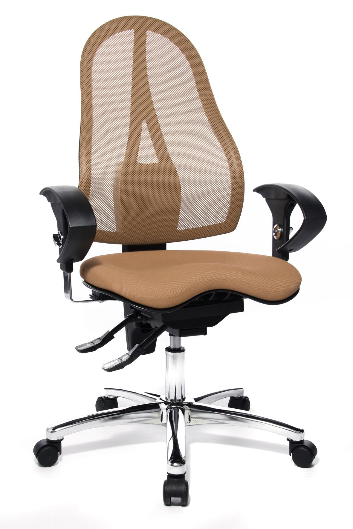 Details zu Bürostuhl Schreibtischstuhl Drehstuhl Topstar Sitness 15 hellbraun braun B Ware